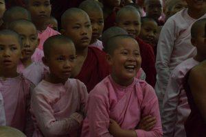 Myanmar novice and nuns