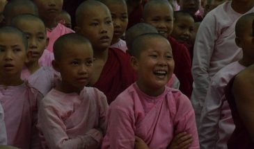 Myanmar novice and nuns