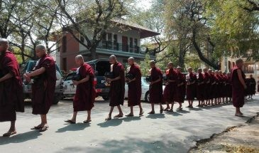 Myasetkya monastery Sagaing Mandalay Myanmar