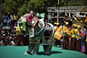 Kyauk Se Elephant Dance Festival Mandalay Myanmar