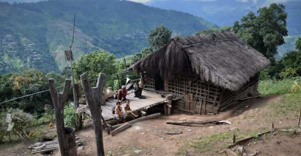 Chin traditional house Myanmar