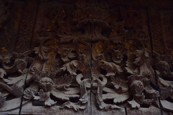 Original gold at Golden Palace Monastery Mandalay Myanmar
