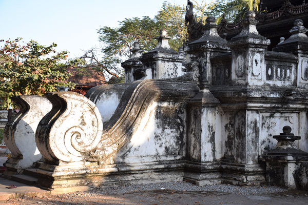 Concrete stair of Golden Palace Monastery Mandalay Myanmar (2)