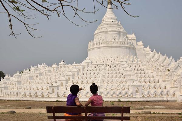 Myatheindan temple Mingun Mandalay Myanmar