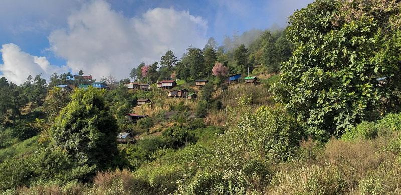 Village Chin State Myanmar