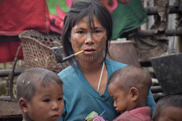 Chin lady Myanmar